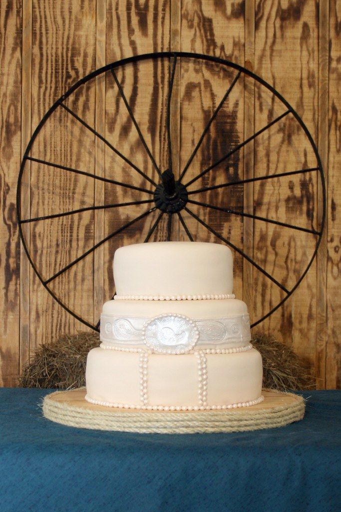 Country Western Themed Wedding Cake