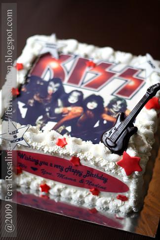 Kiss Rock Band S Birthday Cake Theme Fera Rosalina