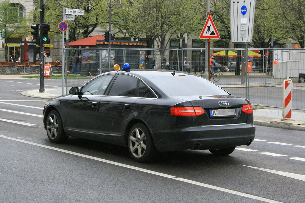 Audi Polizei Zivil Berlin War Zu Einem Staatsbesuch In