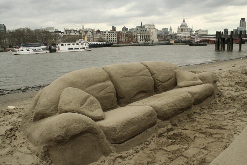 Lovely Sand Sofa | Www.dirtybeach.tv | Sandy Andy | Flickr