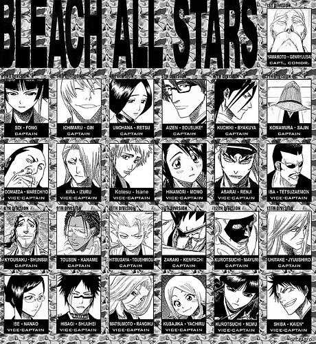 Bleach Captains Names