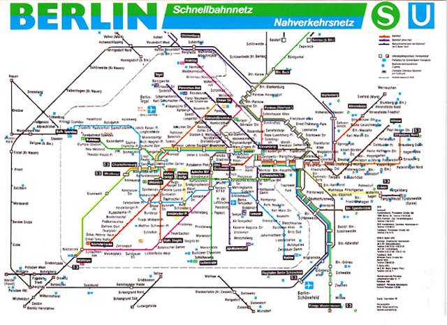 Berlin USBahn Map Postcard Shows The Berlin U And Flickr - Berlin us bahn map
