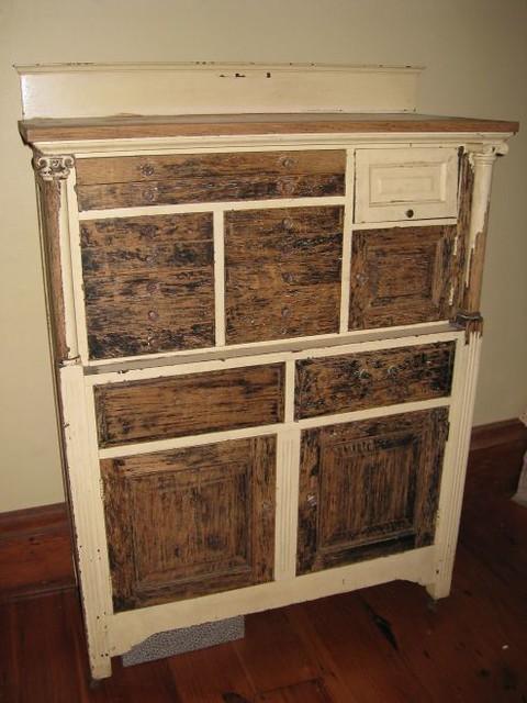 Ca 1830 Antique Oak Dental Cabinet W Amethyst Glass Knob Flickr