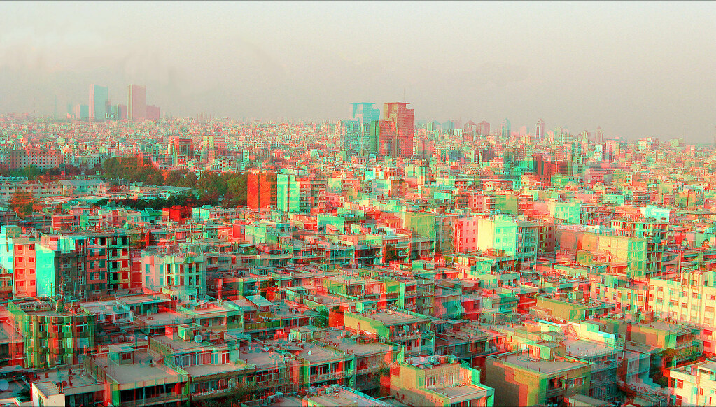Tehran North East View Anaglyph 3d You Need Red Cyan Glas