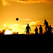 Football silhouette taken in Wales