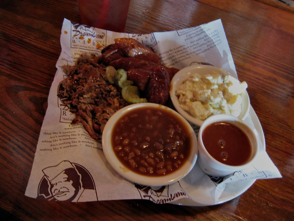 Dreamland Barbeque | 2 Meat Plate with baked beans and ... Barbeque