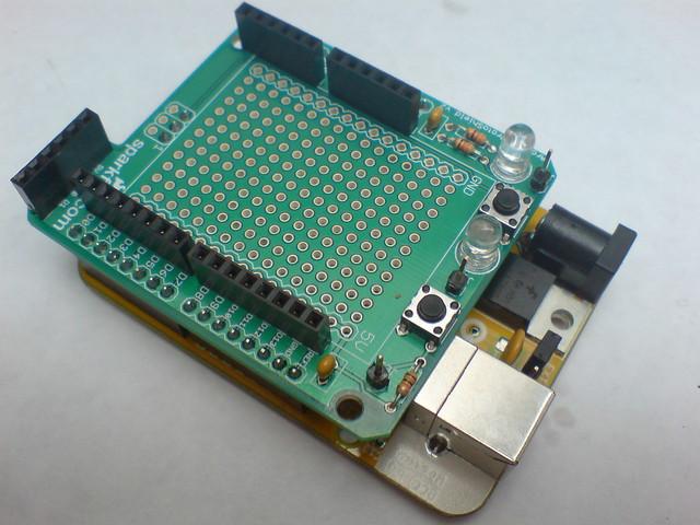 Arduino protoshield kit flickr photo sharing