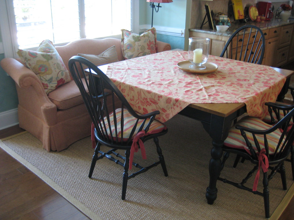 A Large Square Table Seats 8