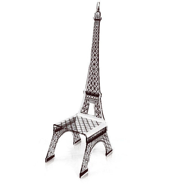 chaise tour eiffel acrila un hommage la dame de fer flickr. Black Bedroom Furniture Sets. Home Design Ideas