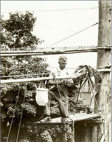 Cable Splicer 1929 Photographer Rosenfeld And Sons