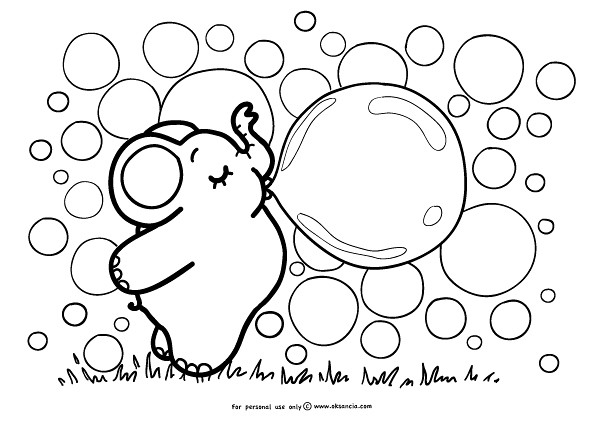 Bubbles Weekly Free Coloring Page By Oksanciafree Colori