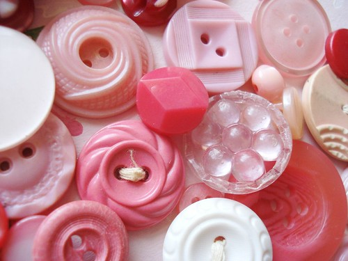 vintage pink buttons | by ♥Sugar*Sugar♥