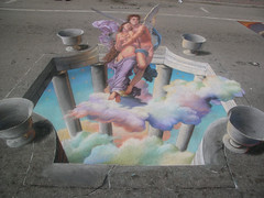 3D Street Painting - Cupid & Psyche | by Tracy Lee Stum