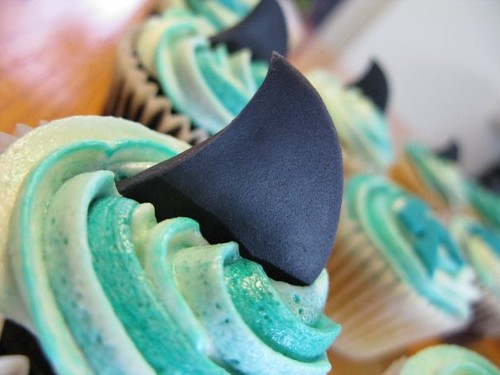 Cheer Sport Blacktip Sharks Cheerleading Cupcakes