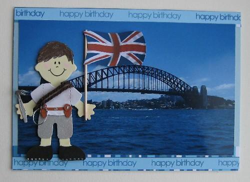 Sydney Habour Bridge Birthday Card Commissioned birthday c – Birthday Cards to Australia