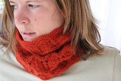 Ridged Lace Cowl | by ElinorB
