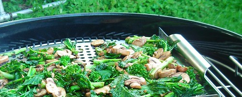 grilled rapini and mushrooms | by rachel is coconut&lime