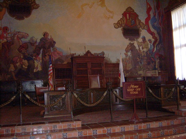 Santa barbara mural room flickr photo sharing for Mural room santa barbara courthouse