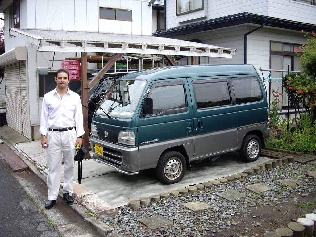 tito standing by traditional small japanese minivan flickr. Black Bedroom Furniture Sets. Home Design Ideas