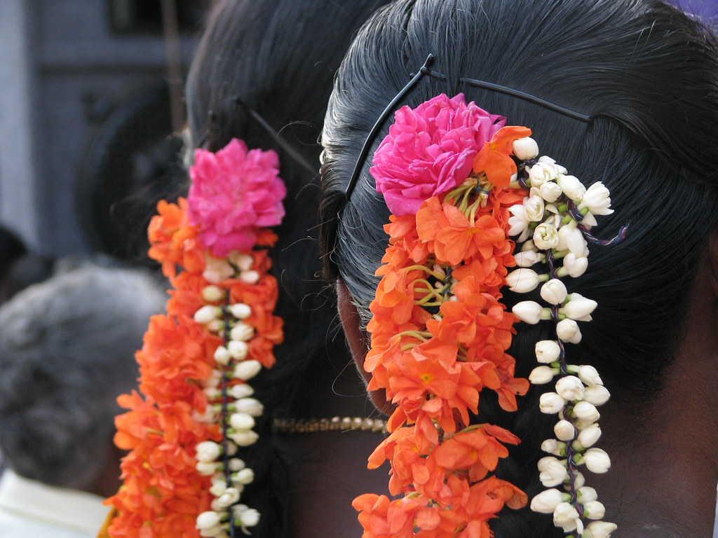 india   sights amp culture   flowers worn in hair women in