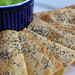 poppy seed lavash with fava bean dip