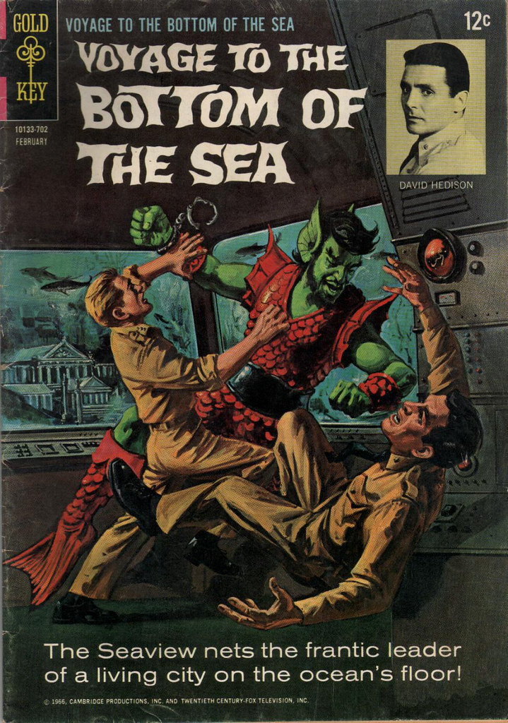 Comic Book Cover Paper : Voyage to the bottom of sea comic book frederick