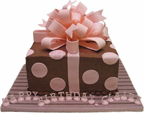 Cake Gift Images : Pink and Brown Gift Cake - August 2008 Thank goodness ...