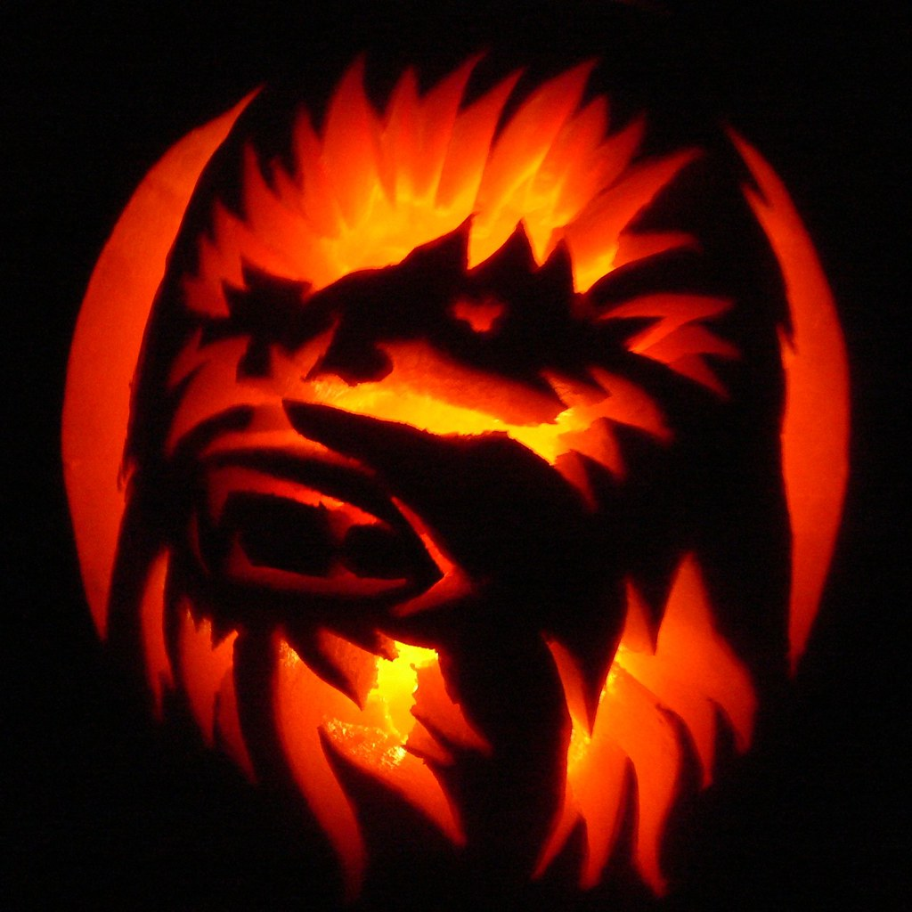 Chewbacca jack o lantern this is the i