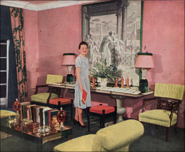 1940 Bedroom Decorating Ideas: 1947 Olivia De Haviland's Living Room