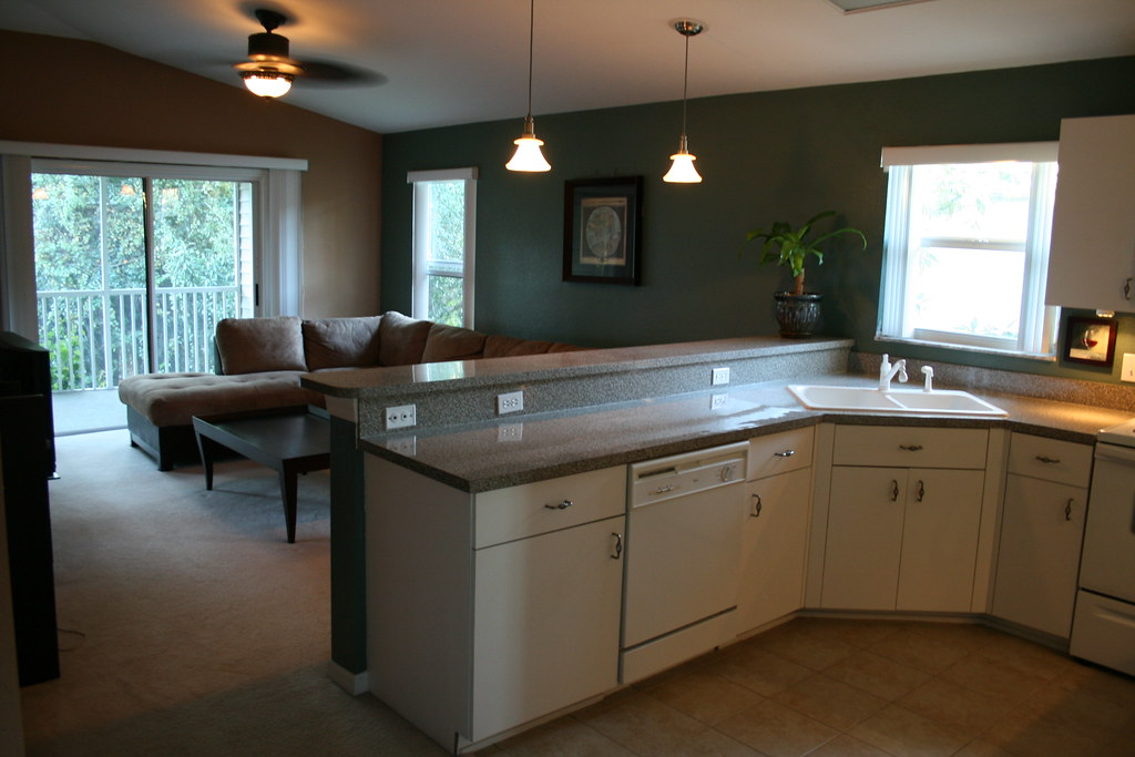 The Kitchen Overlooking the Living Room