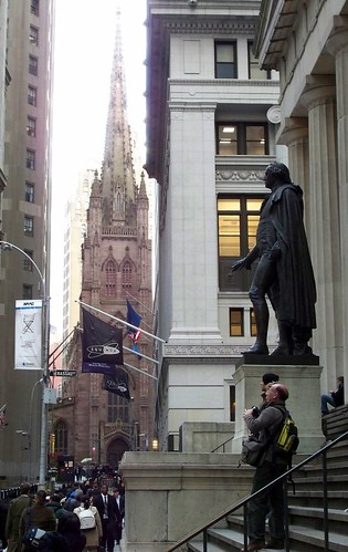 Upper Wall Street with Trinity Church and Federal Hall | by SheepGuardingLlama