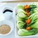 linear white: baby bok choy salad