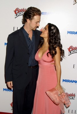 Edward Norton and Salma Hayek | This is a good example of wh ... Edward