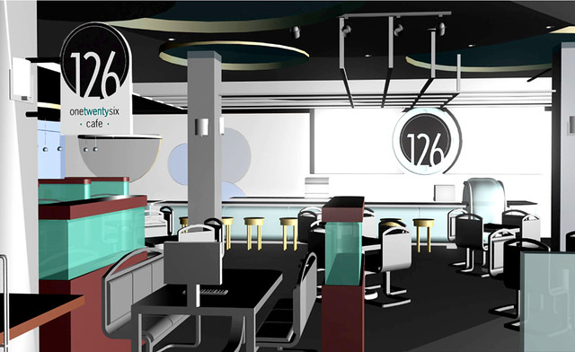 Library Cafe design concept | This team came up with
