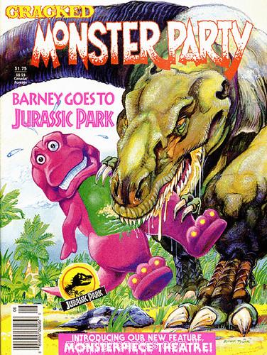 Cracked Monster Party 21 Aug 1993 Barney Vs Jurassi