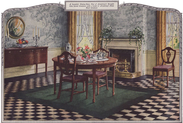 1924 Dining Room Armstrong Linoleum This Traditional
