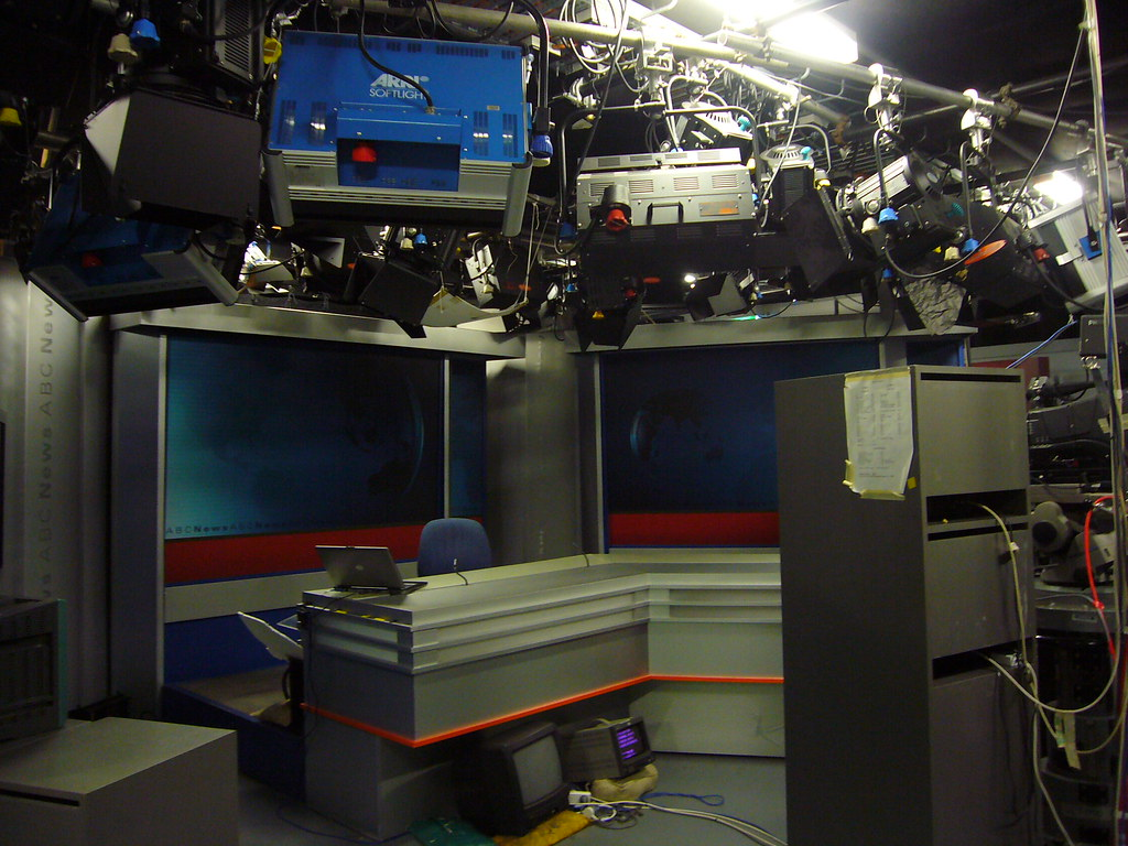 TV news studio, ABC Ultimo