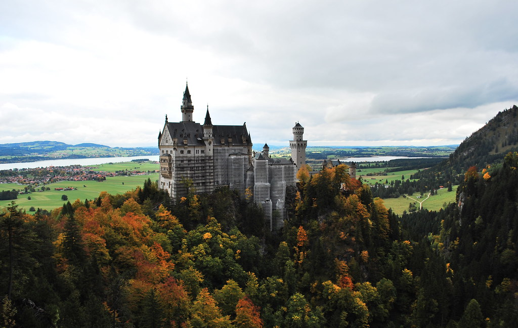 Neuschwanstein Castle Germany Commanding A View Of The