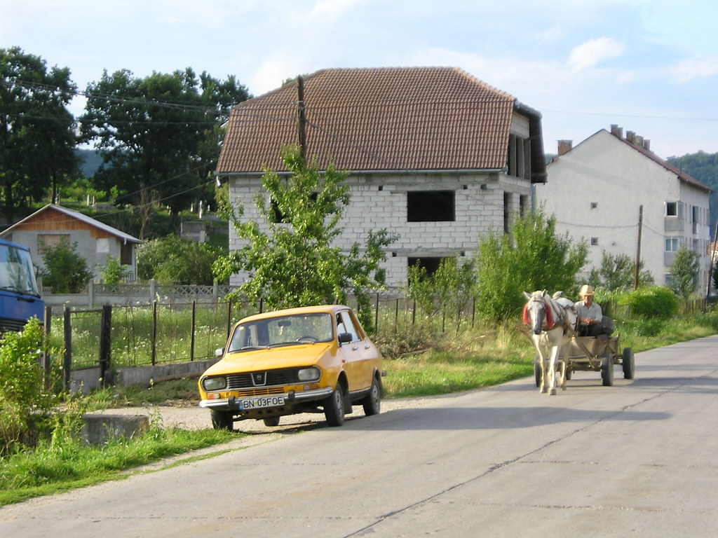 Dacia wagon and unfinished house dacia communist era ro flickr - What houses romanians prefer ...