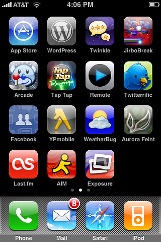 Iphone App Screen I Have The Second Home Screen On My