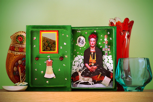 Altered Art Frida Shadow Box Inside Once Inside I
