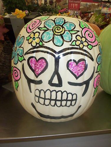 Frida Sugar Skull Pumpkin | Crafty Chica inspired Frida ...
