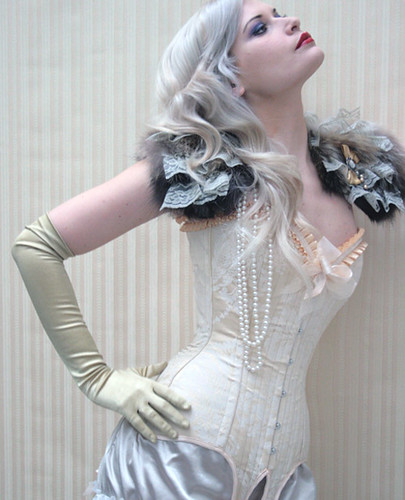 Ivory corset with garters | by Rachel Thomas (Story Slices)