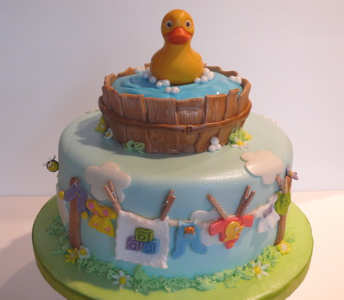 duck baby shower cake see my blog here evolutionofaparty