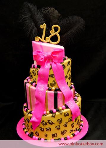 Leopard Print Birthday Cake Photos