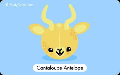 Cute Antelope Cartoon Cute Cartoon Cantaloupe