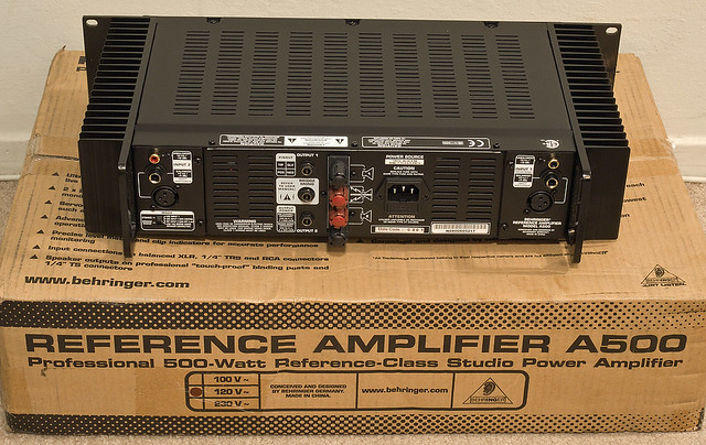 behringer a500 stereo amp 39 the unboxing 39 rear view what m flickr. Black Bedroom Furniture Sets. Home Design Ideas