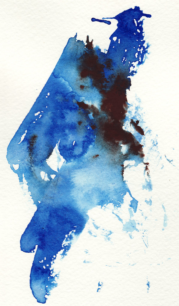 Blue Paint Smear
