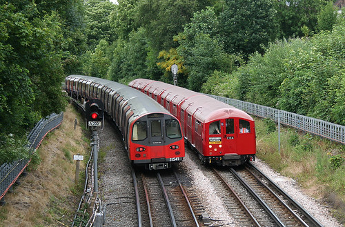 1938 Tube Stock near West Finchley