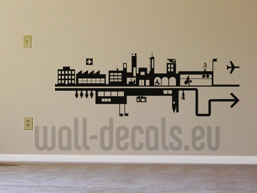 Urban City Wall Decal Sticker Apply This Vinyl Sticker In Flickr   Urban  Wall Decals